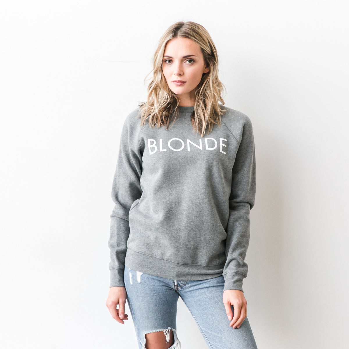 BRUNETTE THE LABEL- Blonde Sweatshirt