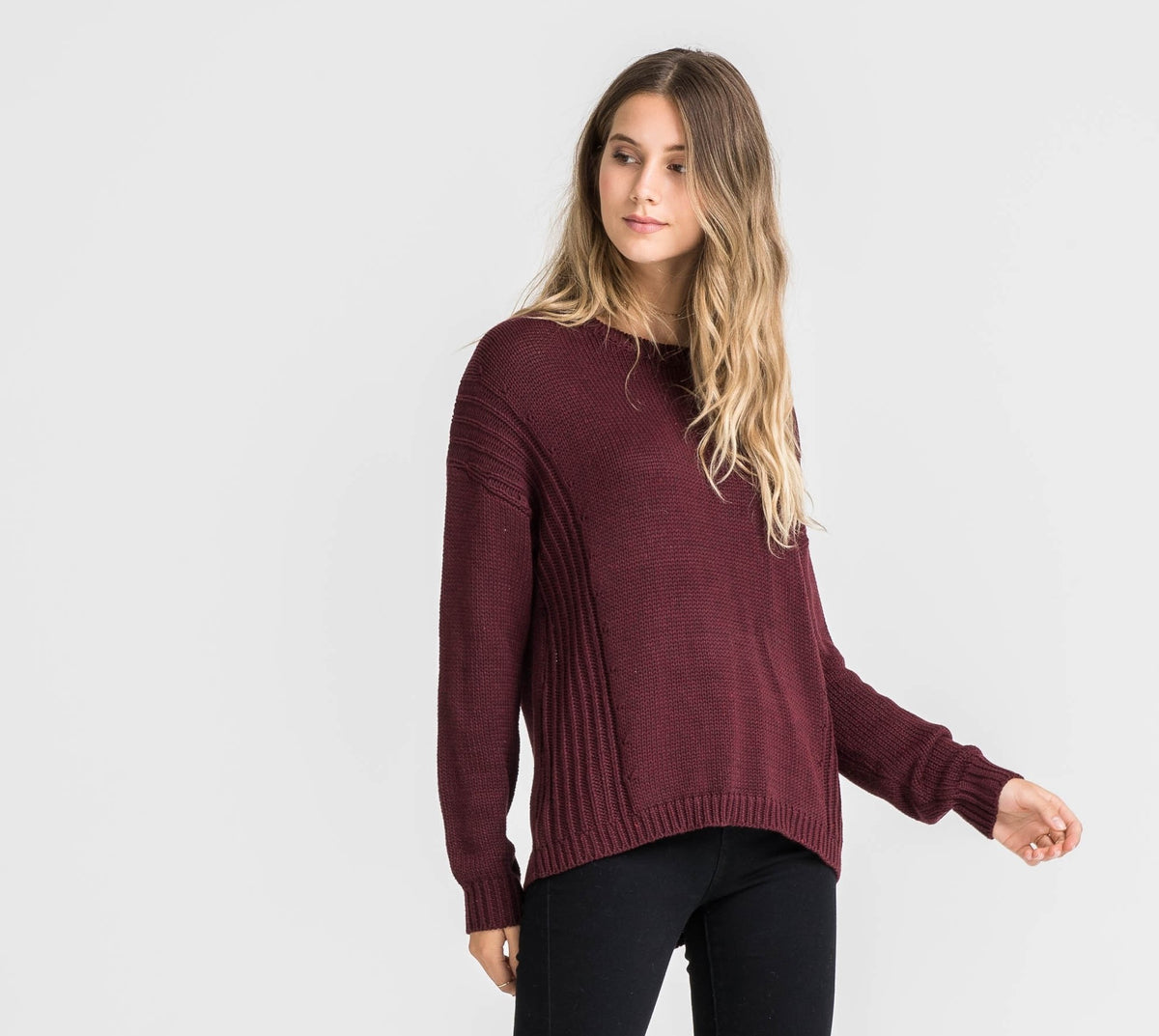 LUSH Jessi Sweater- Deep Wine