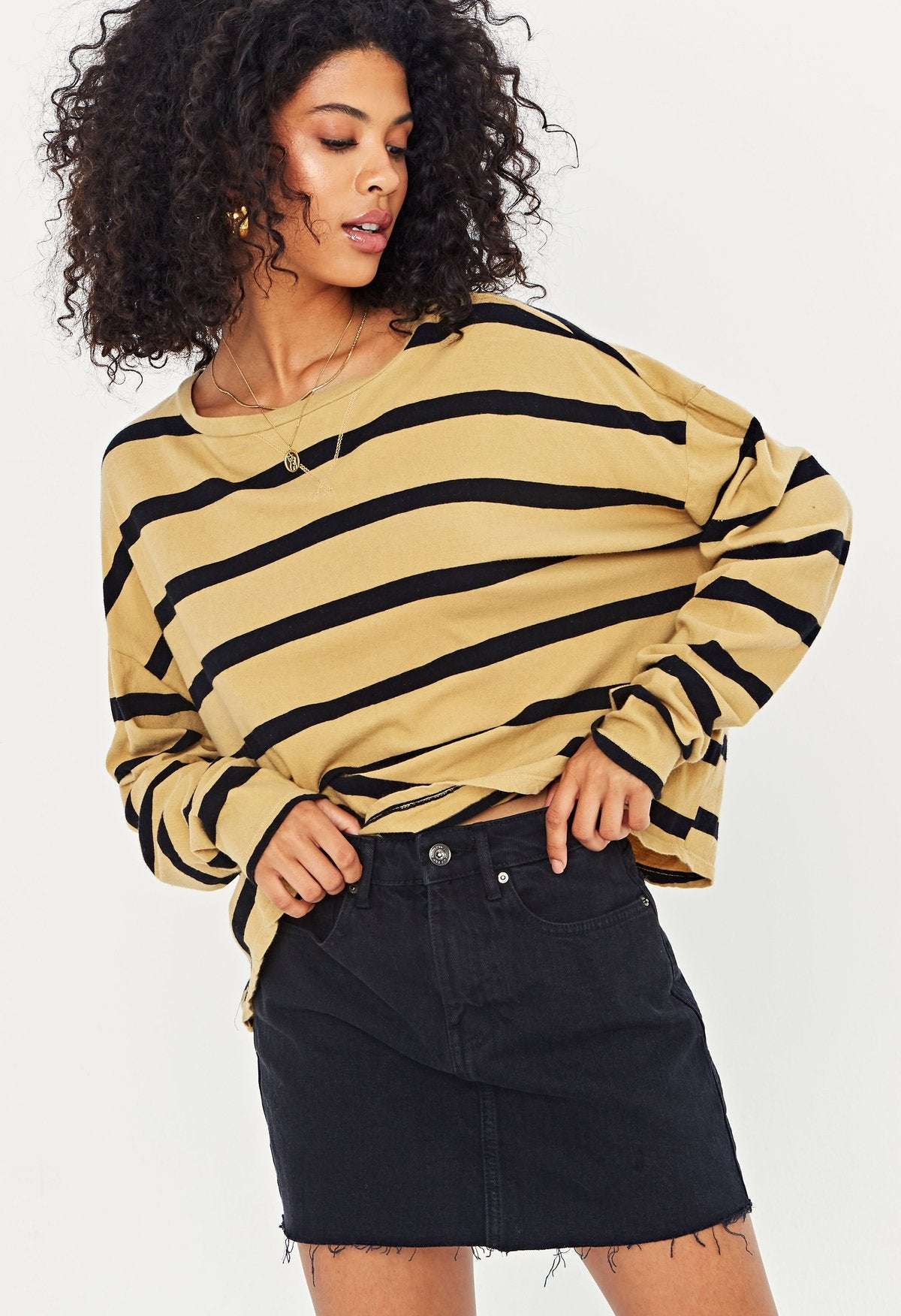 PROJECT SOCIAL T Oaklee Striped Top
