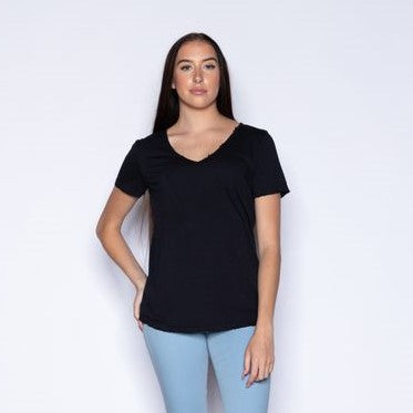 SAM & LAVI Lauren Top- Black