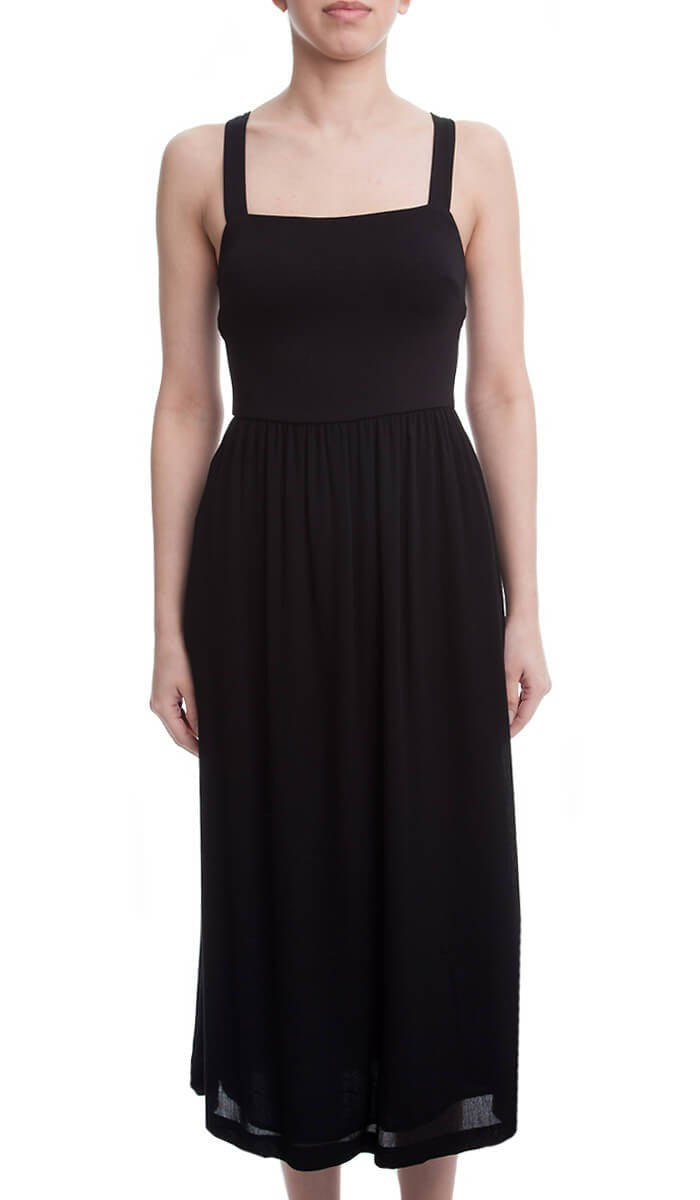 Mid Sleeveless Dress- Black