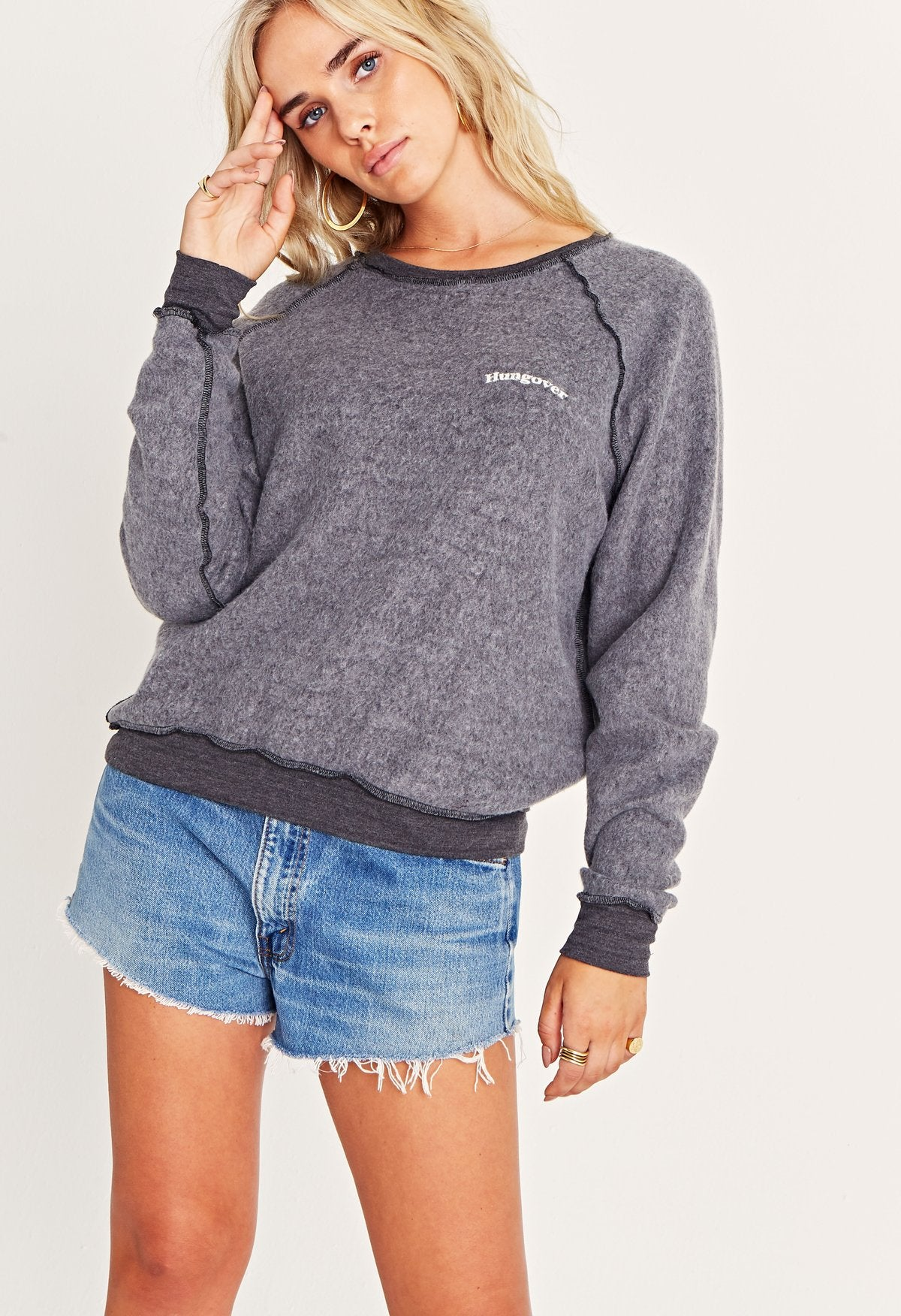 PROJECT SOCIAL T Happy Hour/Hungover Sweatshirt