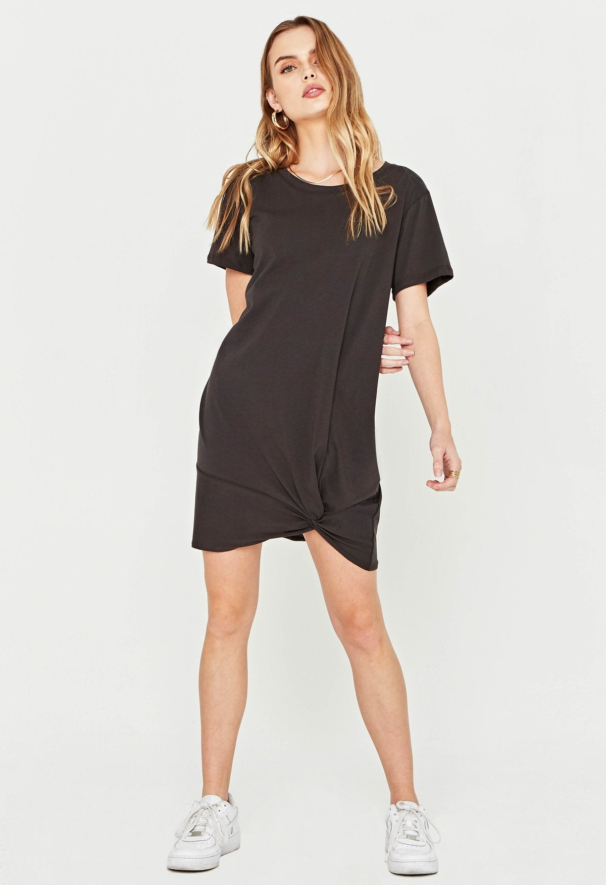 PROJECT SOCIAL T Meant To Be Twist Hem Dress