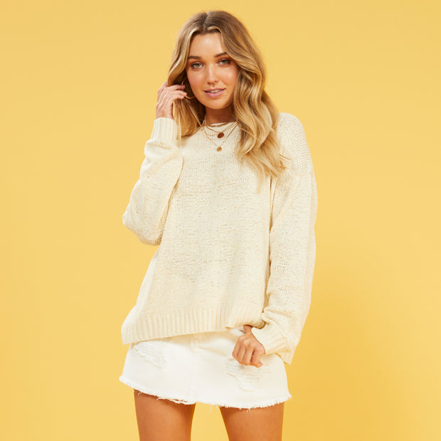 MINKPINK Millie Cross Back Sweater