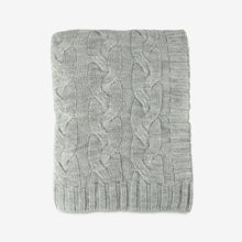 Hampton Cable Throw in Light Grey