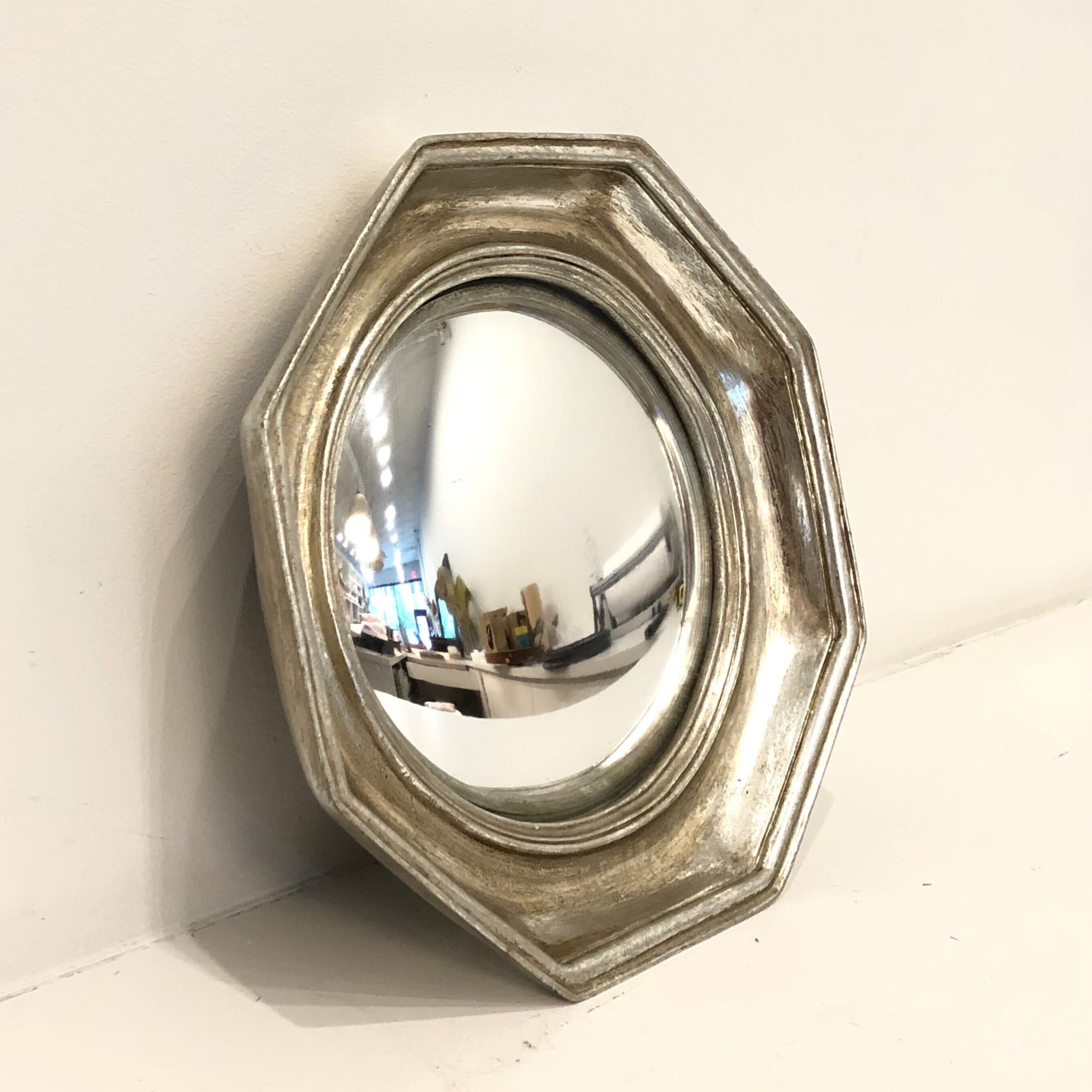 Silver Fish Eye Mirror