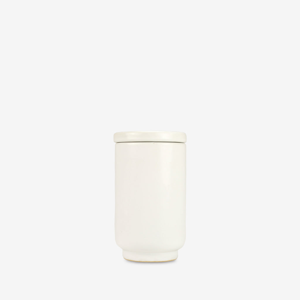 Luna Ceramic Cup with Lid in White