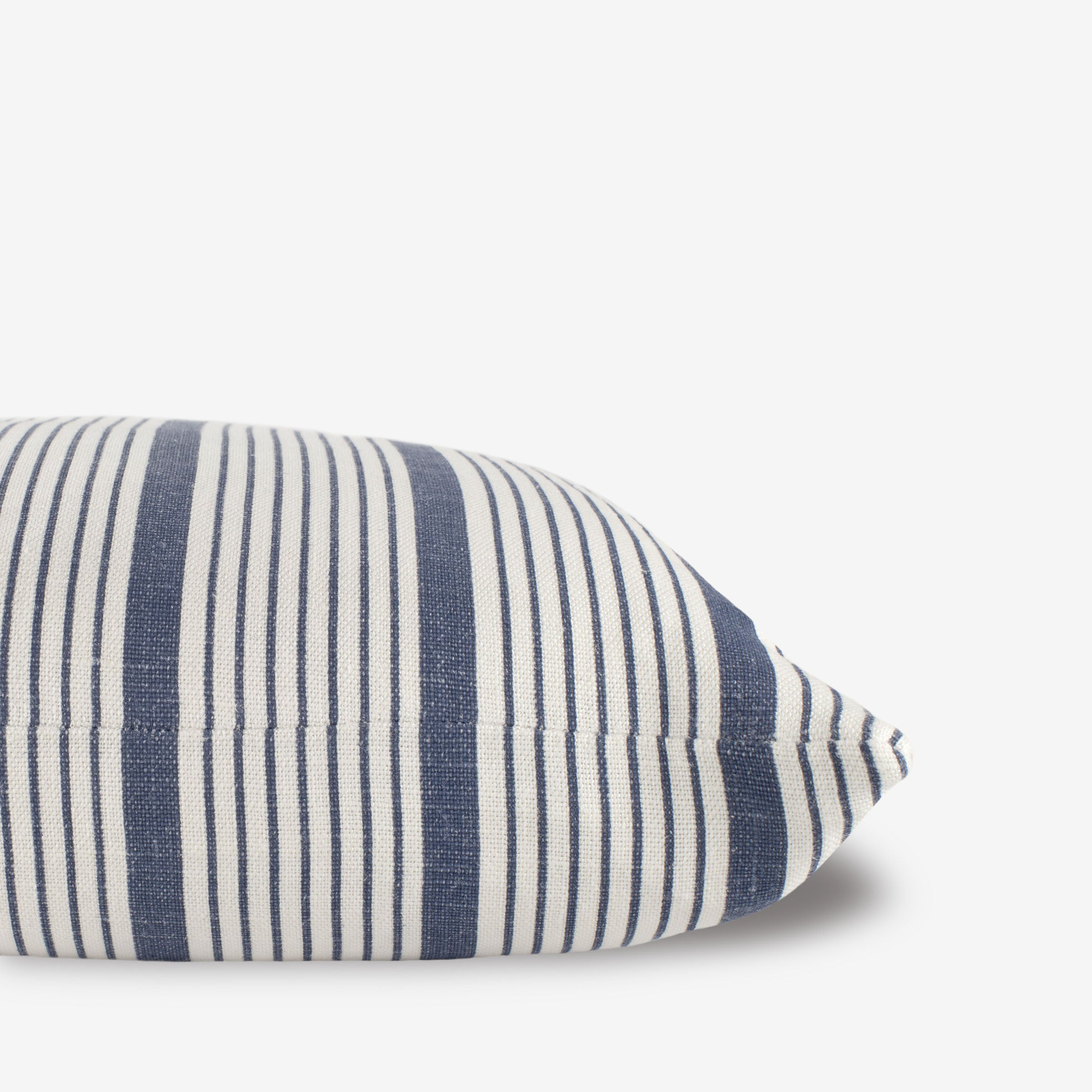 Seven Stripe Pillow in Denim Blue