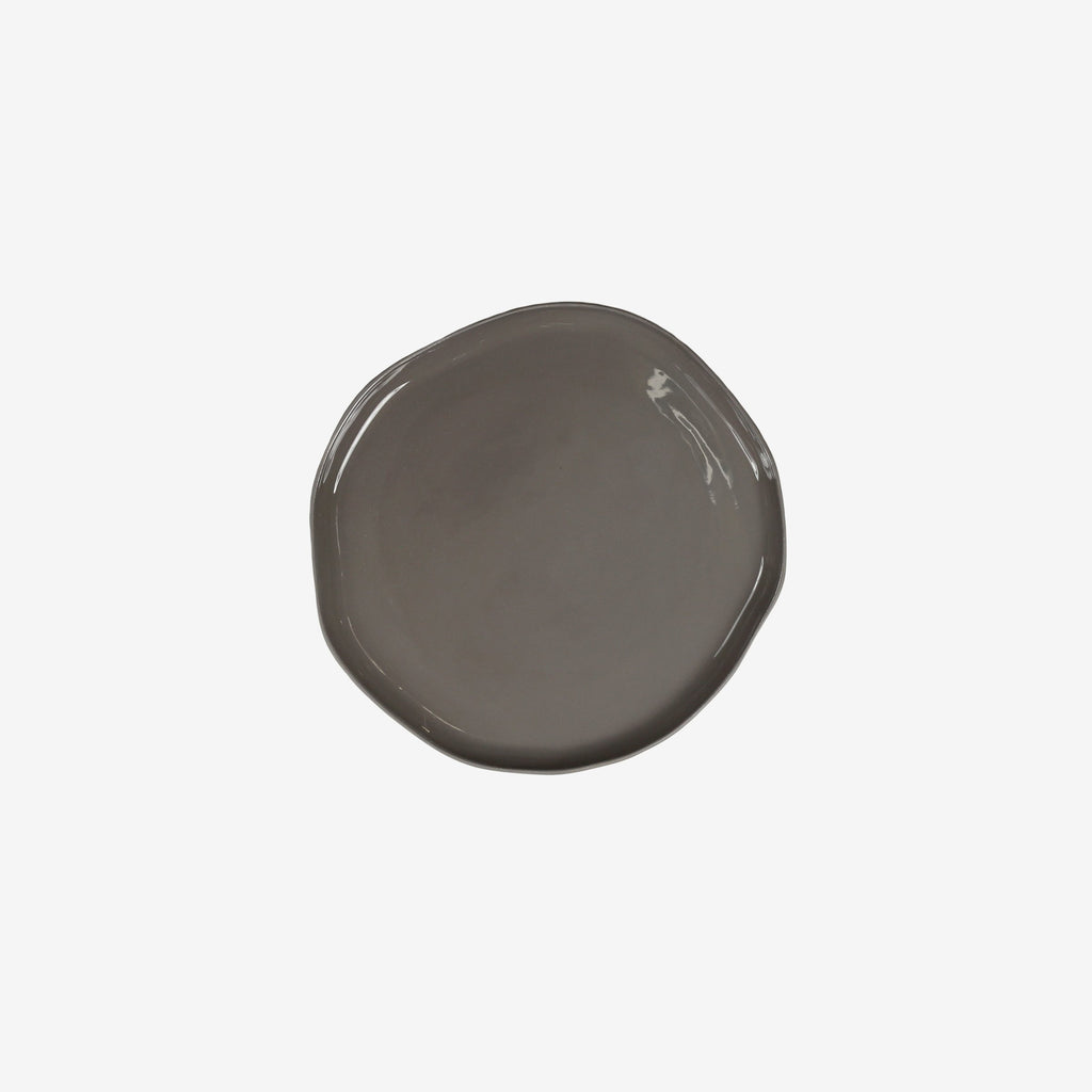 Small Stoneware Plate in Slate Grey