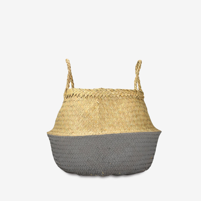 Small Dipped Belly Basket in Grey