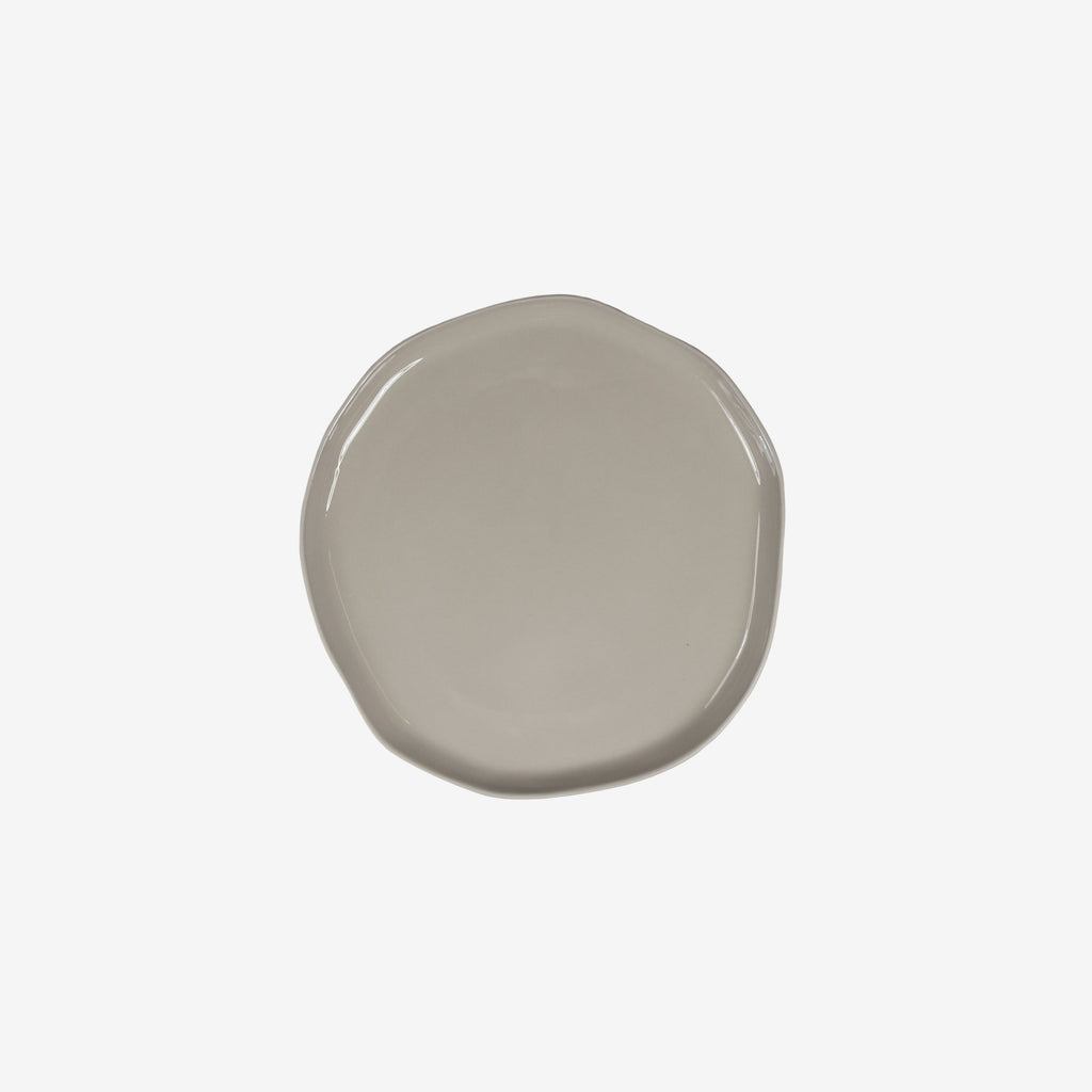 Small Stoneware Plate in Sterling Grey