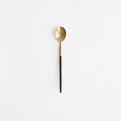 Japanese Brass Spoon with Wood Handle
