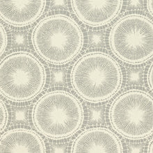 Tree Circles Wallpaper in Pewter & Chalk