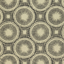 Tree Circles Wallpaper in Pewter & Hemp