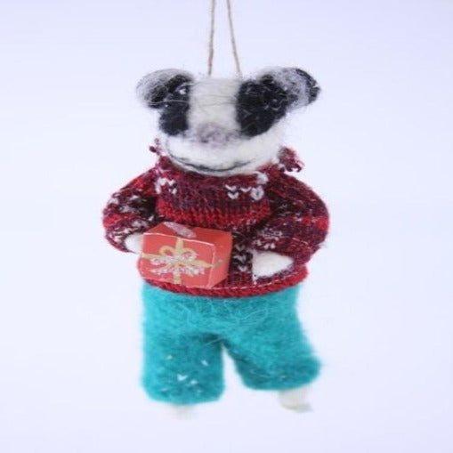Gift Bearer Badger Ornament