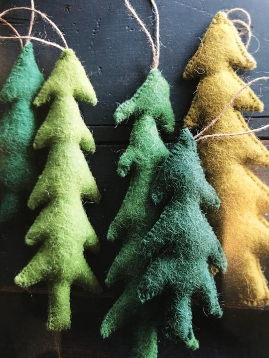 Small Felt Tree Ornament