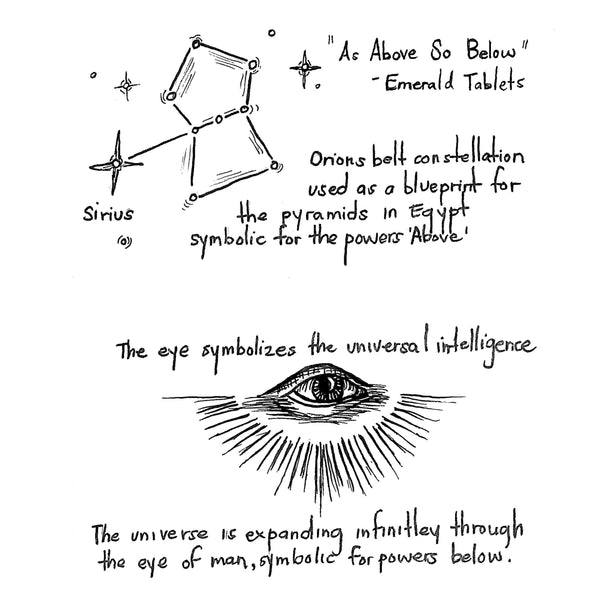 As Above, So Below Flip Ring Inspiration Sketch