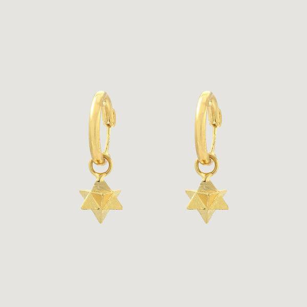 Merkaba Hoop Earrings