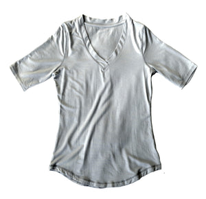Open image in slideshow, Womens Modal-blend Shirt in Dove Grey