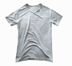 Men's Short Sleeve Lenzig Modal Shirt, Dove Grey