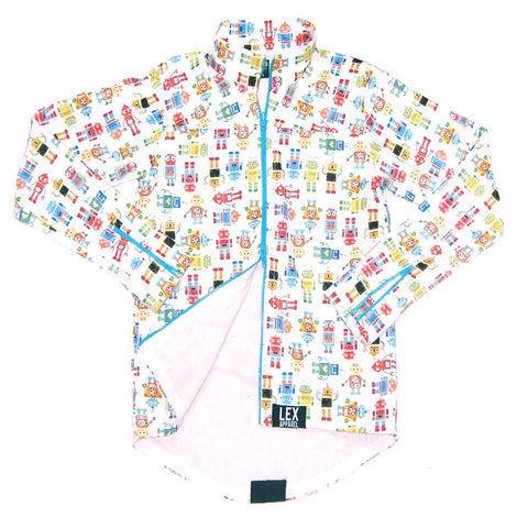 Cycling Fit Robot Print Jacket