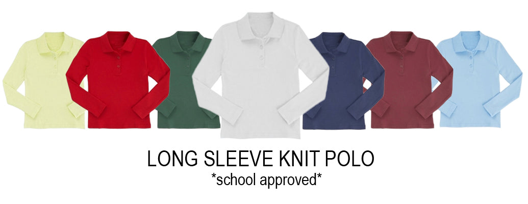 School Approved Long Sleeve Polos