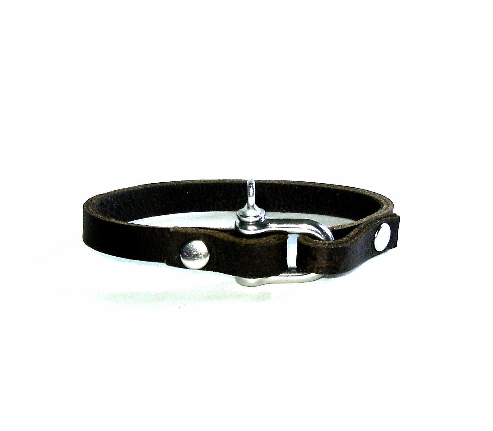 Stainless and Leather Wrist Band