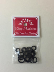 Bryson Stay-Put Ring Markers - Black Small