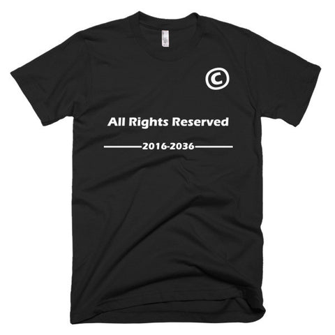 All Right Reserved-Slim fit Short sleeve men's T-Shirt - Eshopping Cart - 1