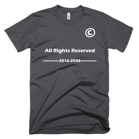 All Right Reserved-Slim fit Short sleeve men's T-Shirt - Eshopping Cart - 2
