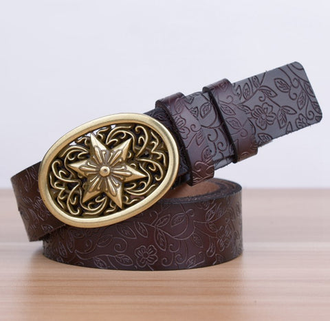 Leather vintage new arrival exquisite design women Belt