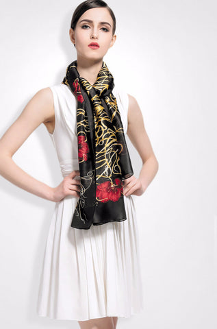 Newest Top Design Women Scarf Luxury Brand Silk Scarves Shawl High Quality Print