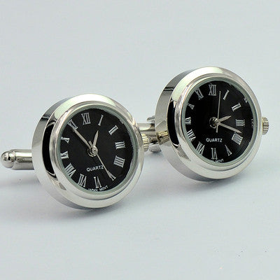New Design Functional mechanical watch cuff links