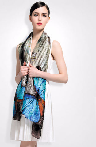 Newest Fashion Women Scarf Brand Luxury Print Bohemia Style Bandana Silk Shawls and Scarves
