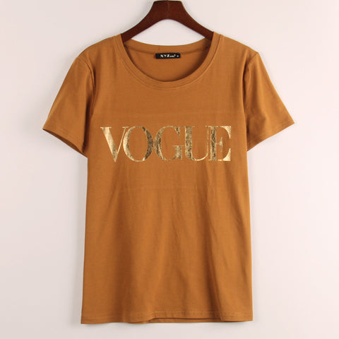 New Arrivals  Fashion Brand VOGUE Printed Casual Tees