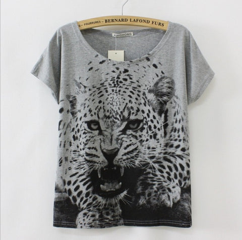 Factory Outlet New Summer Short sleeve Printed  Casual Tees
