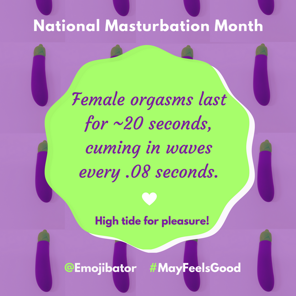 Masturbation Fact #10 - How long do female orgasms last?