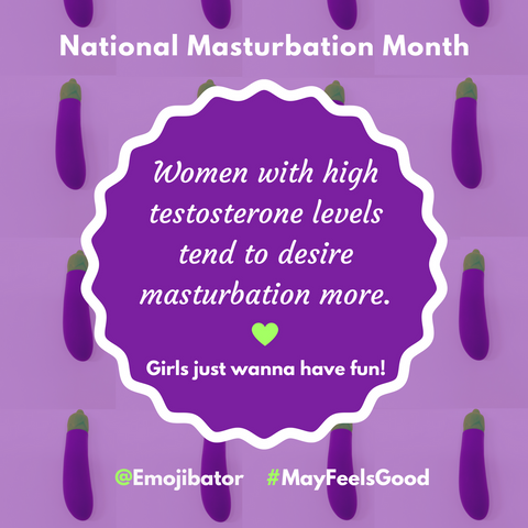 masturbation month emojibator women orgasm testosterone