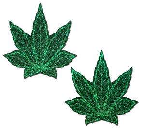 Weed Leaf (Glitter) Pasties