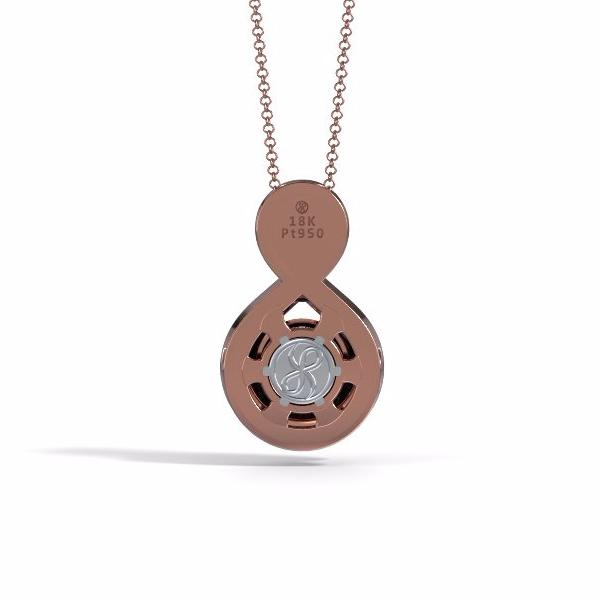 Memorial Jewelry - Eternity Pendant in 18k Rose Gold with Black Onyx - Black
