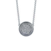 Soleil Cremation Pendant for ashes in Platinum with Diamonds - Back View