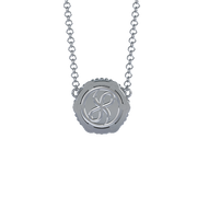 Memorial Jewelry - Brio Pendant and Chain in Platinum with Diamonds - Back