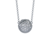 Memorial Jewelry - Brio Pendant and Chain in Platinum with Diamonds