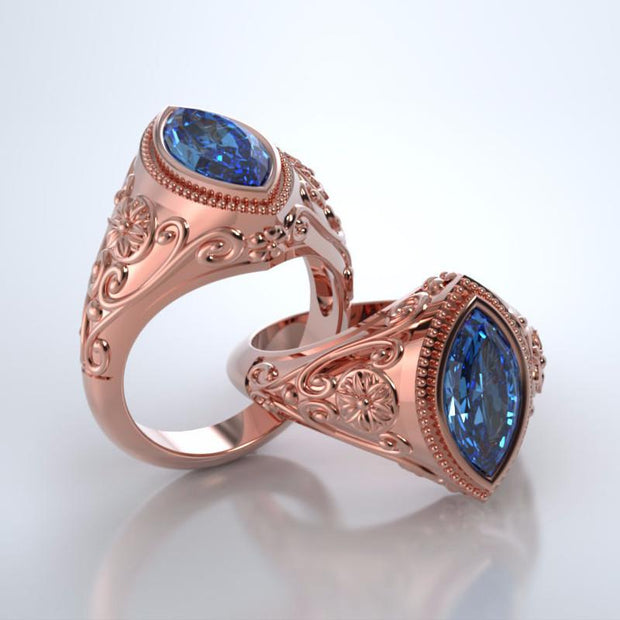 Cassandra Cremation Ring in 18k Rose Gold