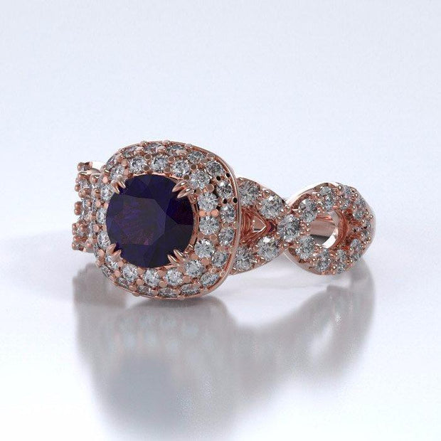 Diamants Entourant Ring in 18k Rose Gold with Diamonds
