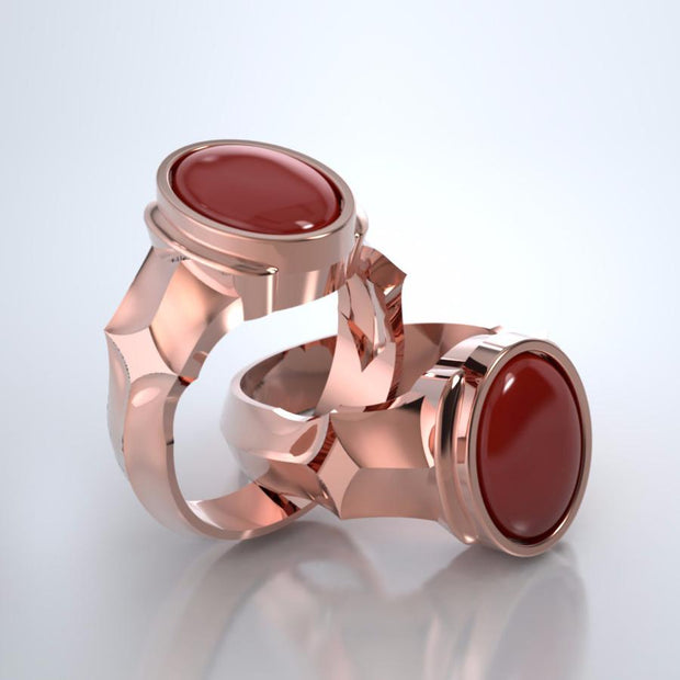 Eros Cremation Ring in 18k Rose Gold