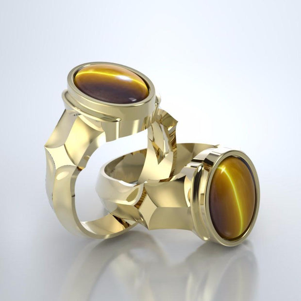 Eros Cremation Ring in 18k Yellow Gold