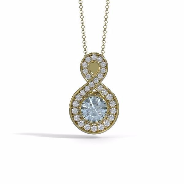 Medium Sparkling Eternity Cremation Pendant in 18k Yellow Gold with Diamonds