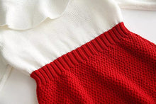 Load image into Gallery viewer, Molly Ruffle Knitted Romper Red - Adassa Rose