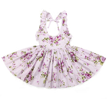 Load image into Gallery viewer, Cherie Floral Flutter Sleeve Dress Girls Lavender - Adassa Rose